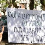 La manifestation festive pour sauver les platanes d'Objat : la vidéo !