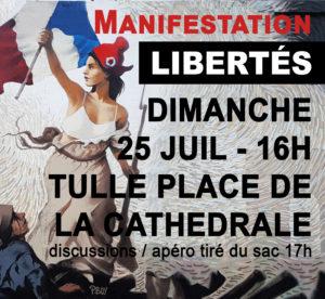Manifestation LIBERTÉS - TULLE dimanche 25 à 16h - Place de la Cathédrale @ Place de la Cathédrale
