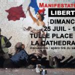 Appel à manifestation LIBERTÉS - Tulle dimanche 25 juillet 16h - Cathédrale